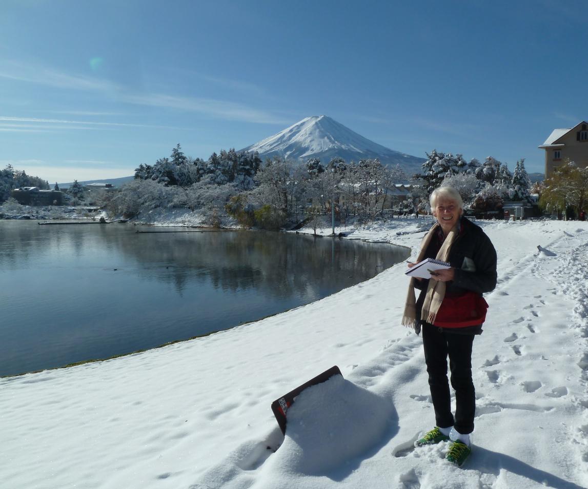 Giappone: il Fujiyama visto dal lago Kawaguchiko